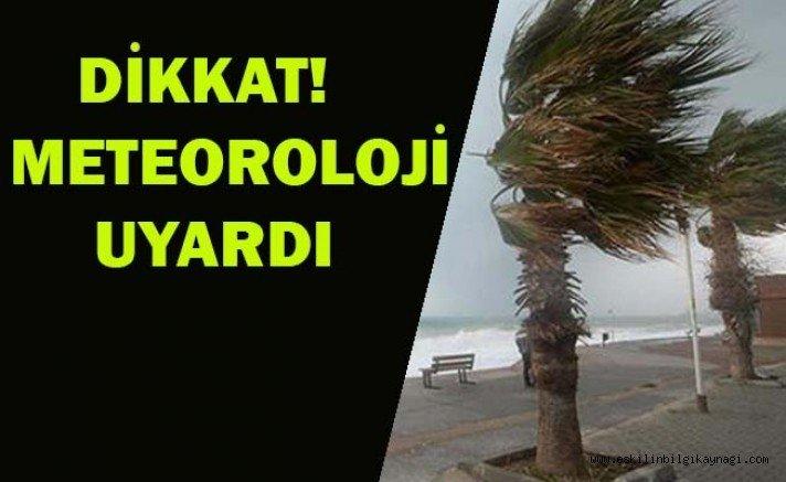 Aksaray'a kuvvetli rüzgar ve fırtına uyarısı