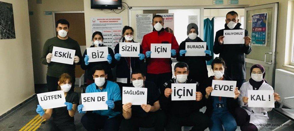 Eskil Devlet Hastanesi Personeli Korana Virüs Mesajı Verdi