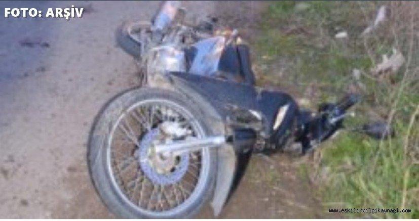 Koçlarda Motosiklet Kazası 2 Yaralı