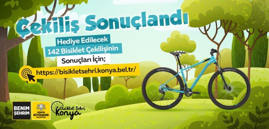 Konya'da çekilişle 142 bisiklet kazananlar belli oldu Tam Liste